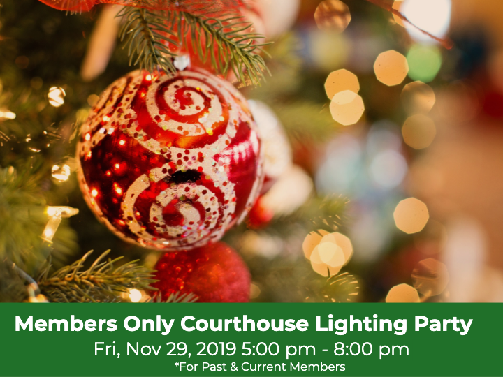 COURTHOUSE LIGHTING PARTY